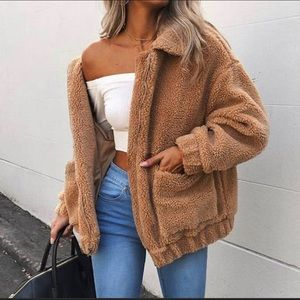Brown Teddy Jacket